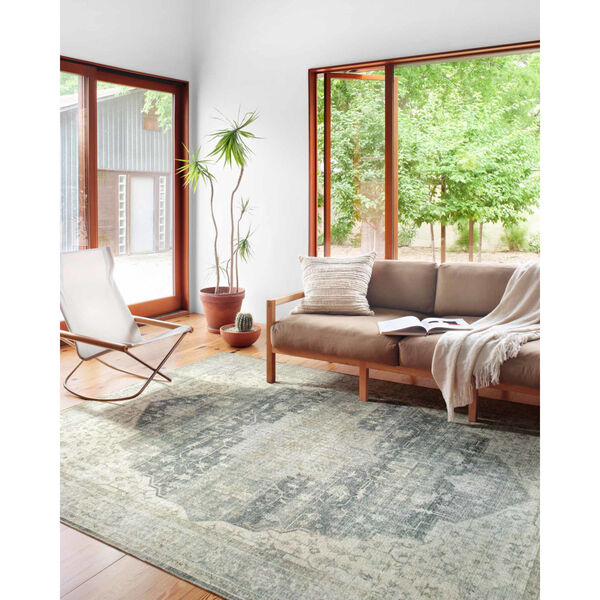 Skye Charcoal and Dove Rectangular: 7 Ft. 6 In. x 9 Ft. 6 In. Area Rug, image 3