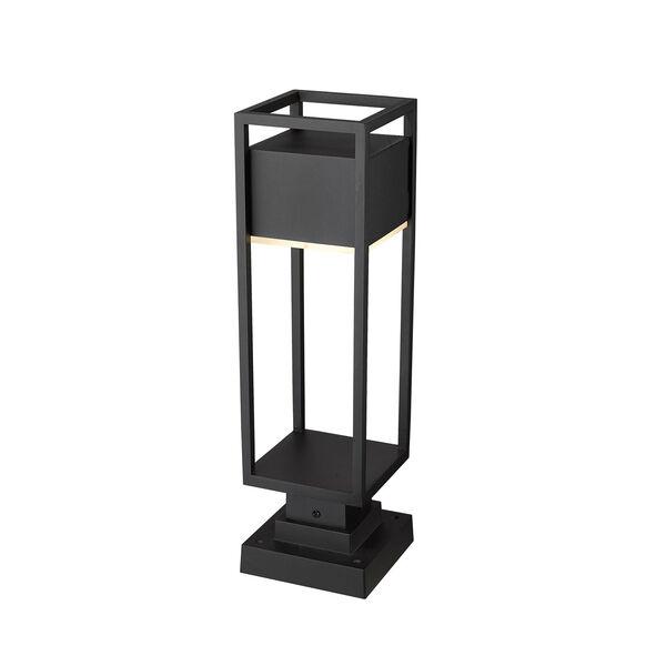 Barwick Black 22-Inch One-Light LED Outdoor Pier Mount, image 5