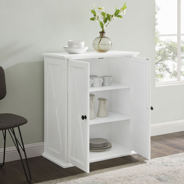 Clifton Distressed White Stackable Kitchen Pantry, image 3