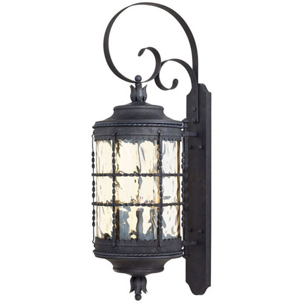 Kingswood Iron and Textured Black Five-Light Outdoor Wall Sconce, image 1