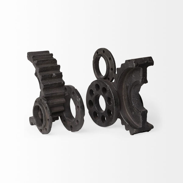 Cogsworth Black Gear Bookend, image 2