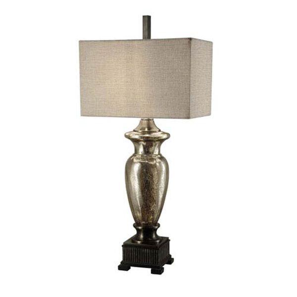 Antique Mercury Glass Table Lamp, image 1