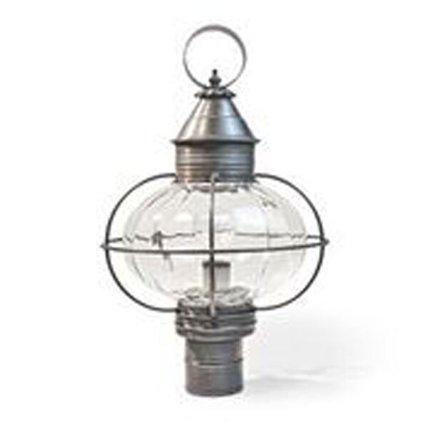 Onion Dark Brass One-Light Outdoor Post Mount with Optic Glass, image 1
