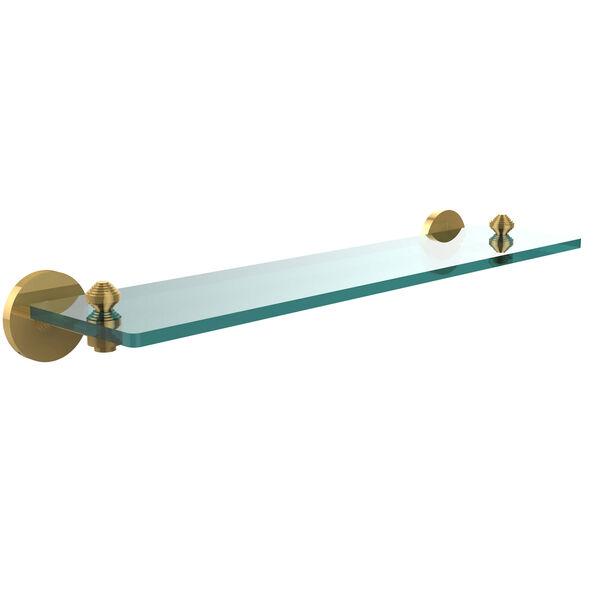 Polished Brass 22-Inch Single Shelf, image 1