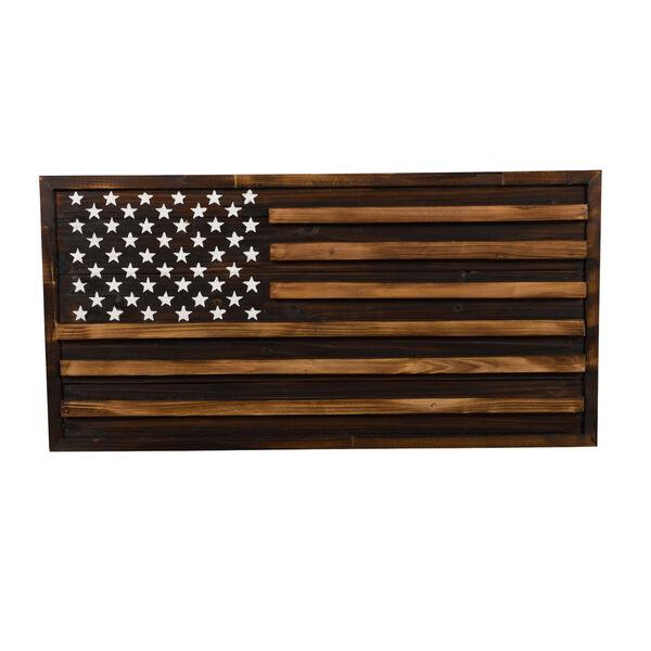 Rustic Pine Multicolor American Flag Wall Art, image 1