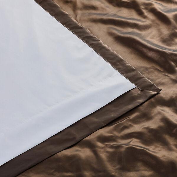 Ruched Mushroom 84 x 50-Inch Faux Silk Taffeta Curtain Single Panel, image 6