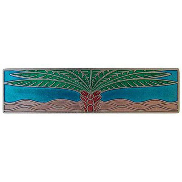 Brilliant Pewter with Turquoise Royal Palm Pull , image 1