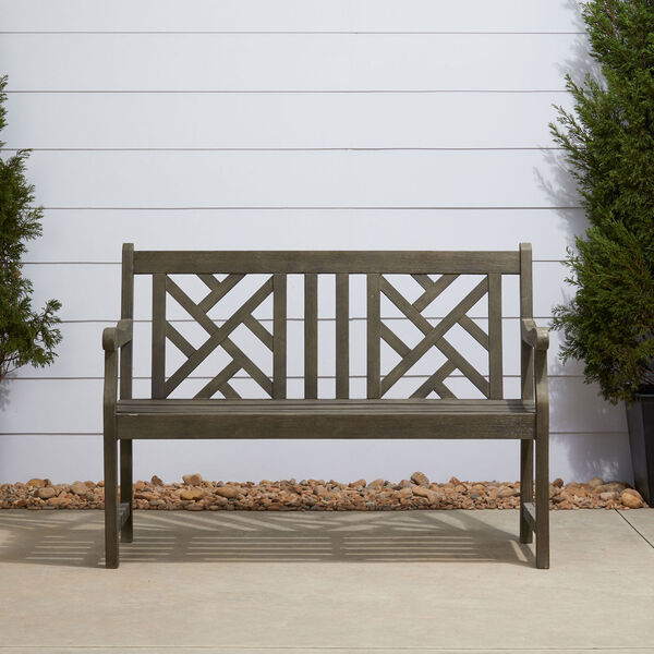 Renaissance Eco-friendly 4-foot Outdoor Hand-scraped Hardwood Garden Bench, image 2