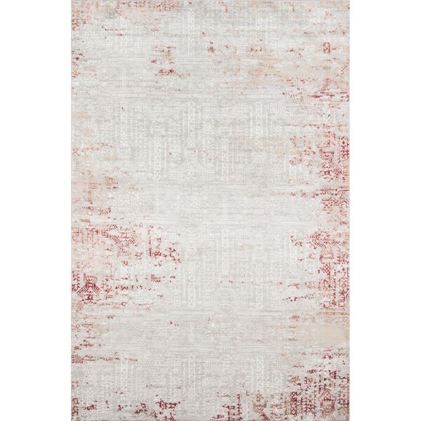Genevieve Red Rectangular: 1 Ft. 10 In. x 2 Ft. 10 In. Rug, image 1