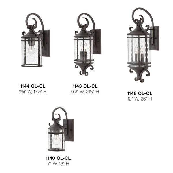 Casa Olde Black 10-Inch One-Light Outdoor Medium Wall Mount, image 4
