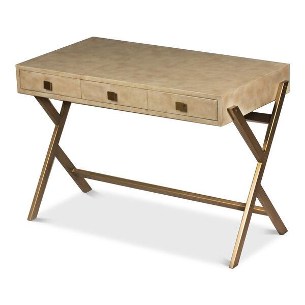 Beige Stuart Leather Desk, image 5