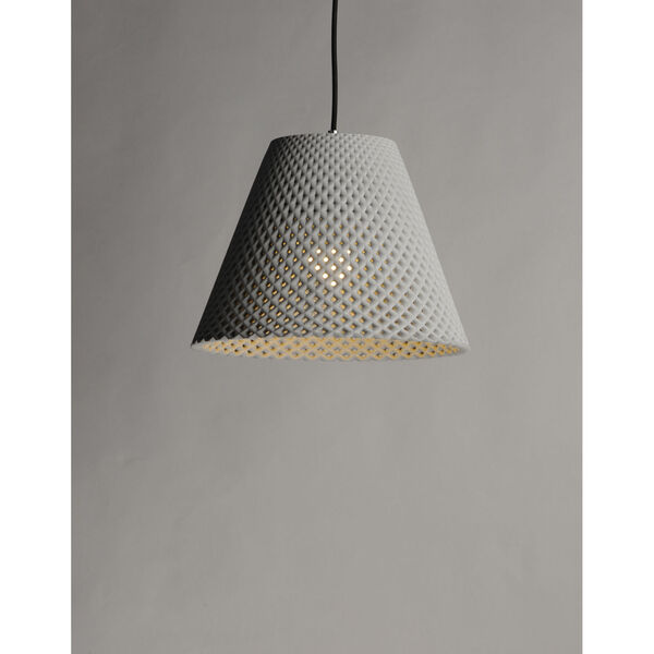 Woven Gray and Black One-Light Pendant, image 4