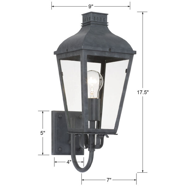 Dumont Graphite One-Light Outdoor Wall Mount, image 4