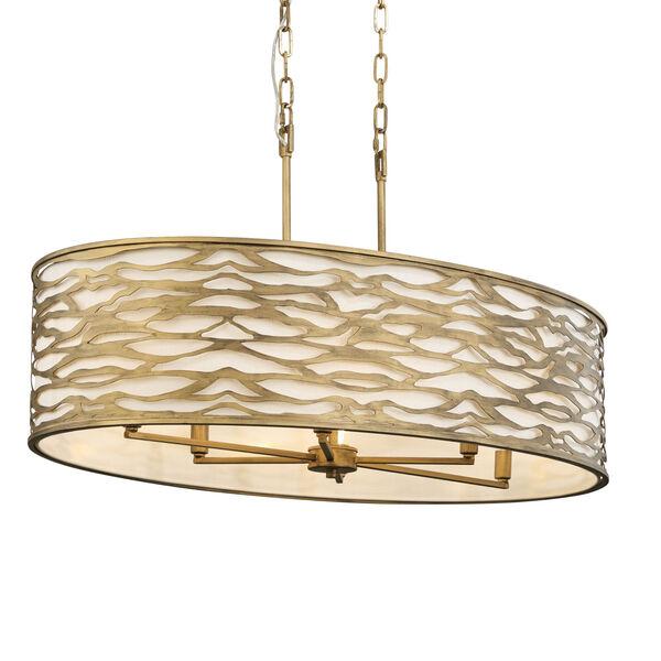 Kato Havana Gold 36-Inch Six-Light Pendant, image 1