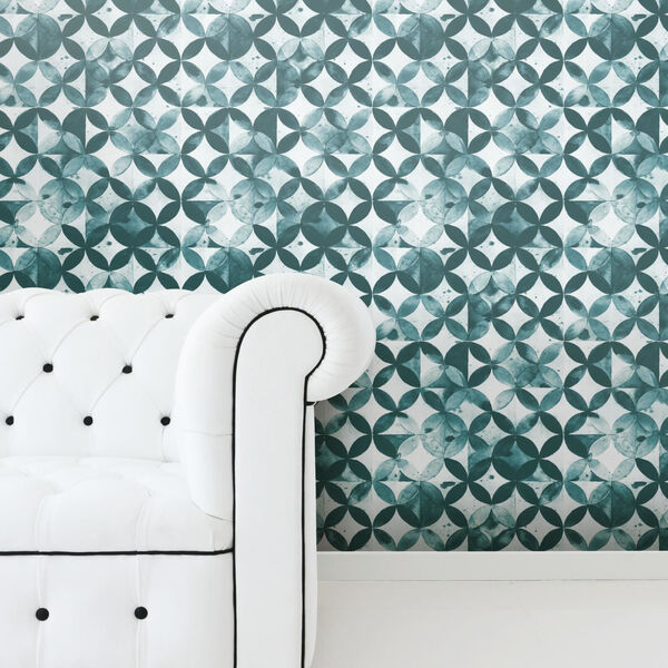 Paul Brent Moroccan Green Peel and Stick Wallpaper - SAMPLE SWATCH ONLY, image 2