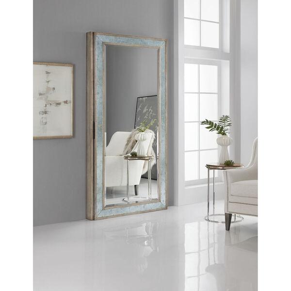 Melange McAlister Silver Floor Mirror with Jewelry Storage, image 4