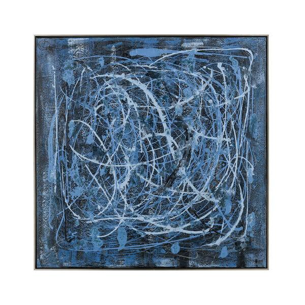 Acrylic Blue Rhythm Framed Wall Art, image 1