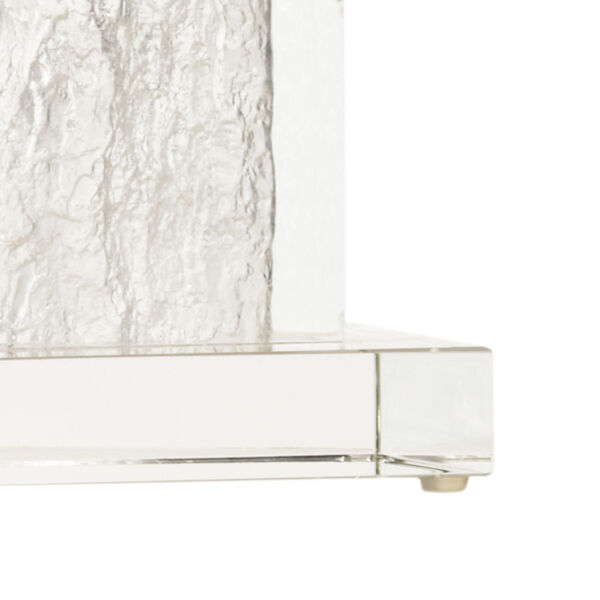 Selena Clear and Polished Nickel Table Lamp, image 2