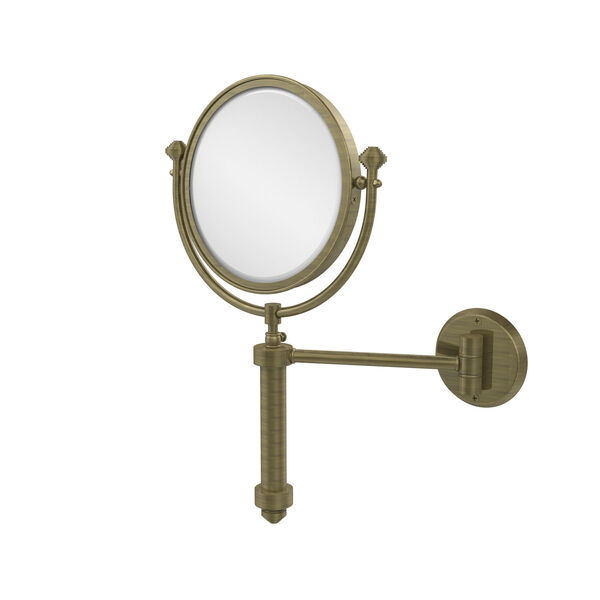 Southbeach Collection Wall Mounted Make-Up Mirror 8-Inch Diameter with 4X Magnification, image 1