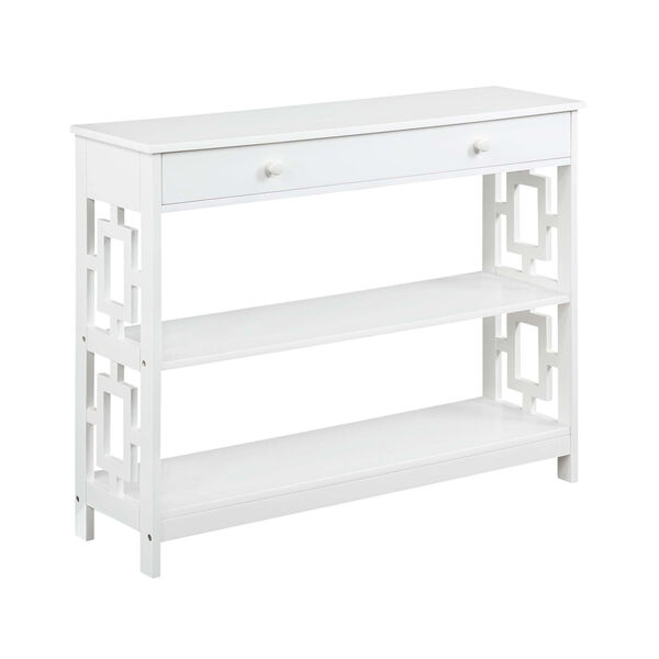 Town Square White Accent Console Table, image 3