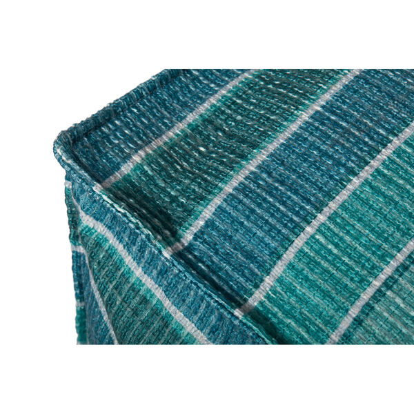 Lagoon and Blue 24-Inch x 24-Inch Pouf, image 2