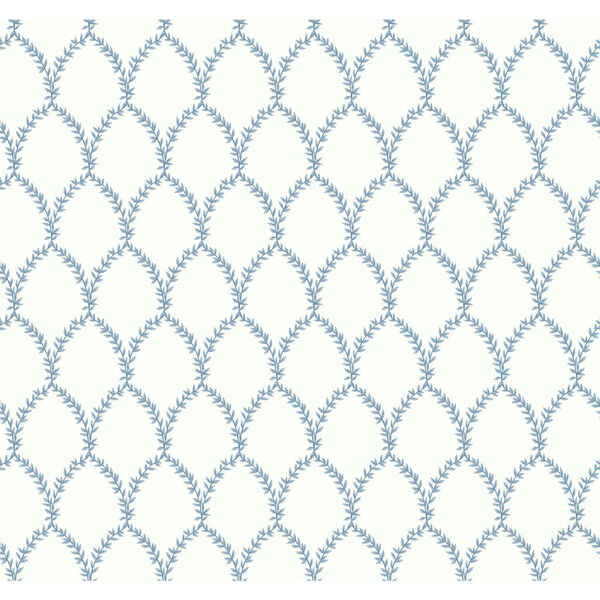 Rifle Paper Co. Blue and White Laurel Wallpaper, image 2