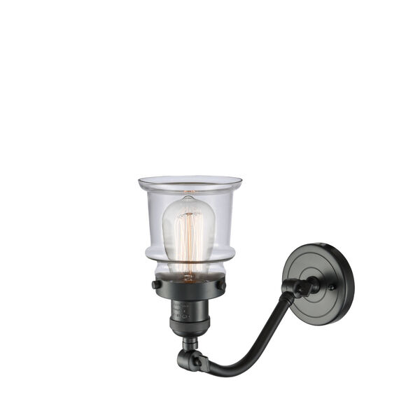Franklin Restoration Oil Rubbed Bronze 12-Inch One-Light Wall Sconce with Small Clear Canton Shade, image 2