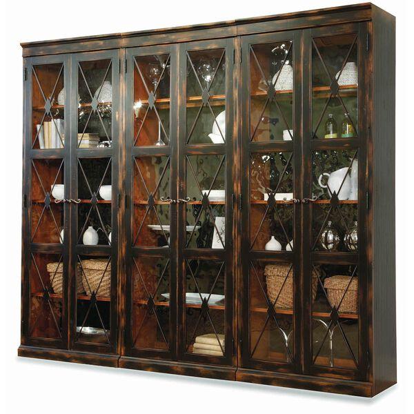 Sanctuary Two-Door Thin Display Cabinet - Ebony, image 2
