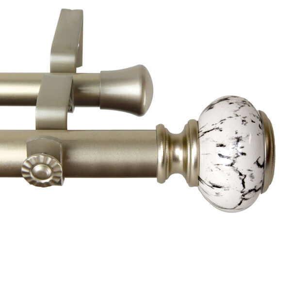Kelly Gold 160-240 Inch Double Curtain Rod, image 3