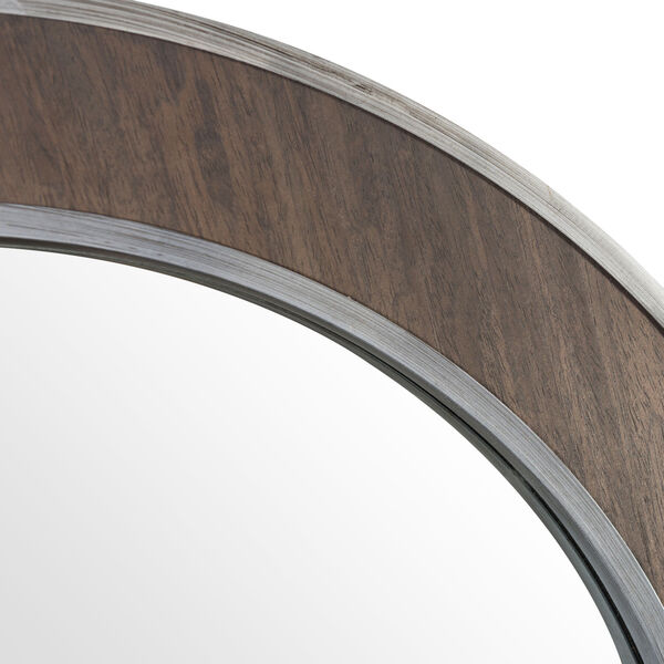 Macie Farmhouse Steel Round Wall Mirror, image 6