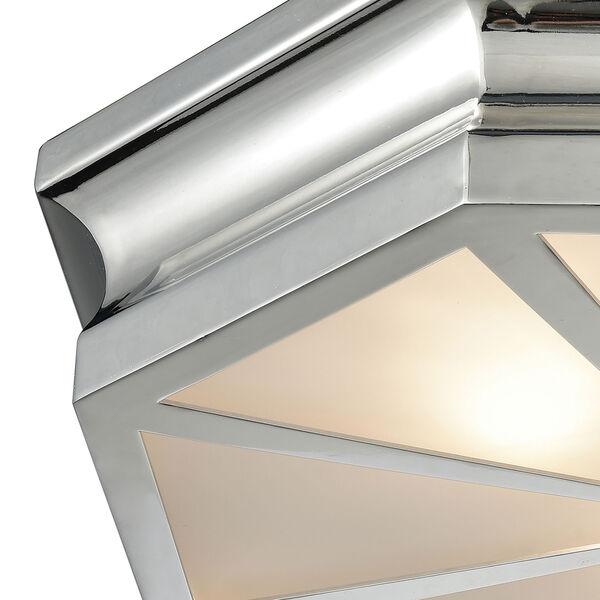 Windsor Polished Nickel 20-Inch Three-Light Flush Mount, image 2