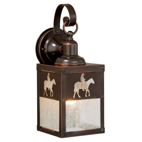 Trail Burnished Bronze 5-Inch One-Light Outdoor Wall Sconce, image 1
