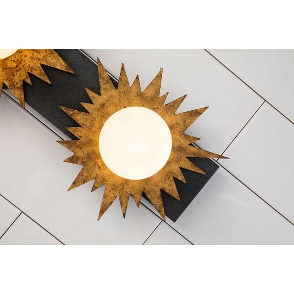 Soleil Weather Zinc Gold Leaf with Antique Three-Light LED Bath Vanity, image 5
