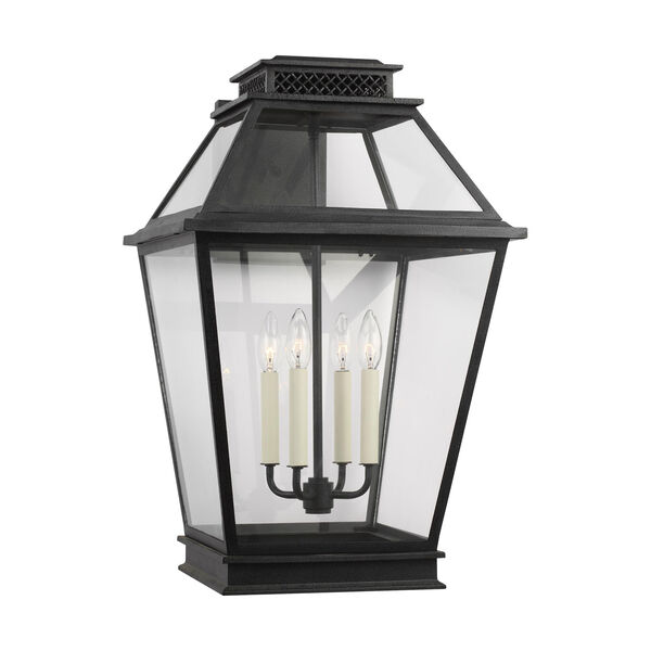 Falmouth Dark Weathered Zinc 16-Inch Four-Light Outdoor Wall Sconce, image 2