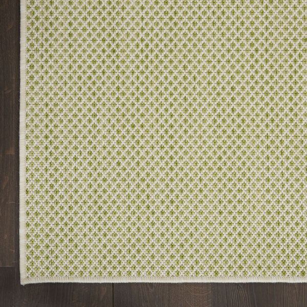 Courtyard Ivory and Green 5 Ft. x 7 Ft. Rectangle Indoor/Outdoor Area Rug, image 4