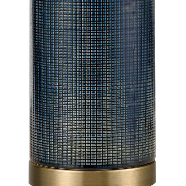 Concettas Blue Navy Blue Antique Brass One-Light Table Lamp, image 4