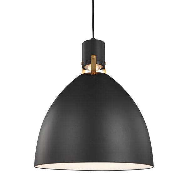 Brynne Matte Black 19-Inch LED Pendant, image 3