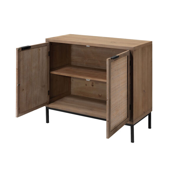 Grace Washed Wood and Black Two Door Accent Cabinet, image 2