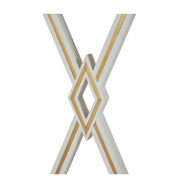 Alandra Cerused White and Stained Gold Console Table, image 6