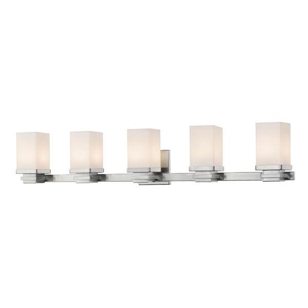 Avige Brushed Nickel Five-Light LED Vanity, image 1