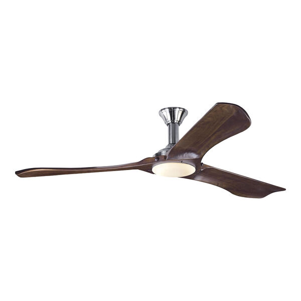 Minimalist Brushed Steel 72-Inch LED Indoor Outdoor Ceiling Fan, image 1