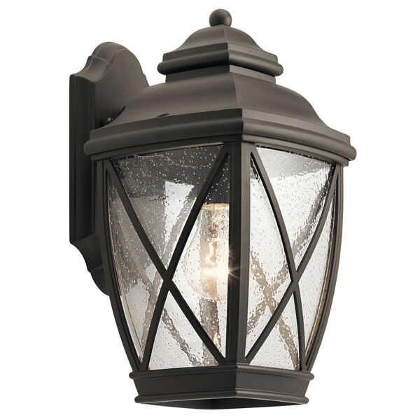 Tangier Olde Bronze 8-Inch One-Light Outdoor Wall Light, image 1