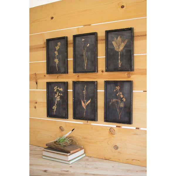 Botanical Prints Under Glass, Set of Six, image 1