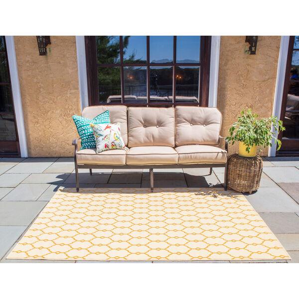 Baja Trellis Yellow Indoor/Outdoor Rug, image 2