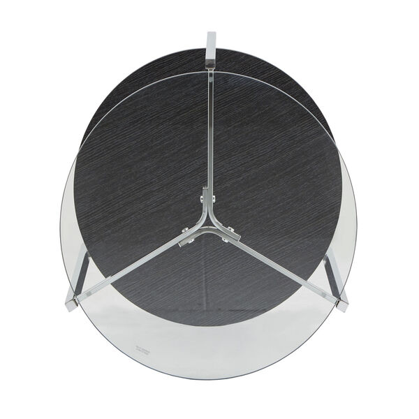 Alexia Chrome End Table with Glass Top, image 6