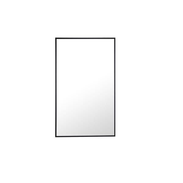 Eternity Black 24-Inch Mirror, image 2