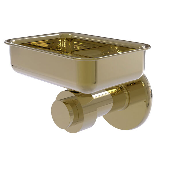 Mercury Unlacquered Brass Four-Inch Wall Mounted Soap Dish, image 1
