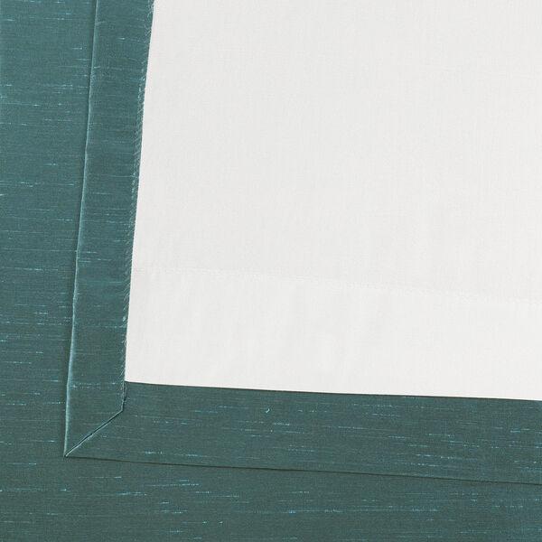 Peacock Vintage Textured Faux Dupioni Silk Single Panel Curtain, 50 X 108, image 6