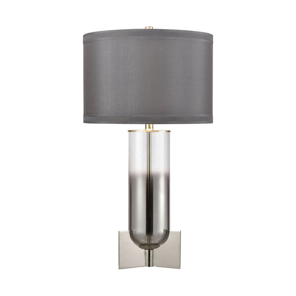 Clear and Chrome One-Light Table Lamp, image 1