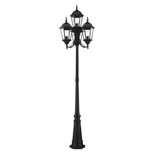 Hamilton Textured Black Four-Light Outdoor Post Lantern, image 3